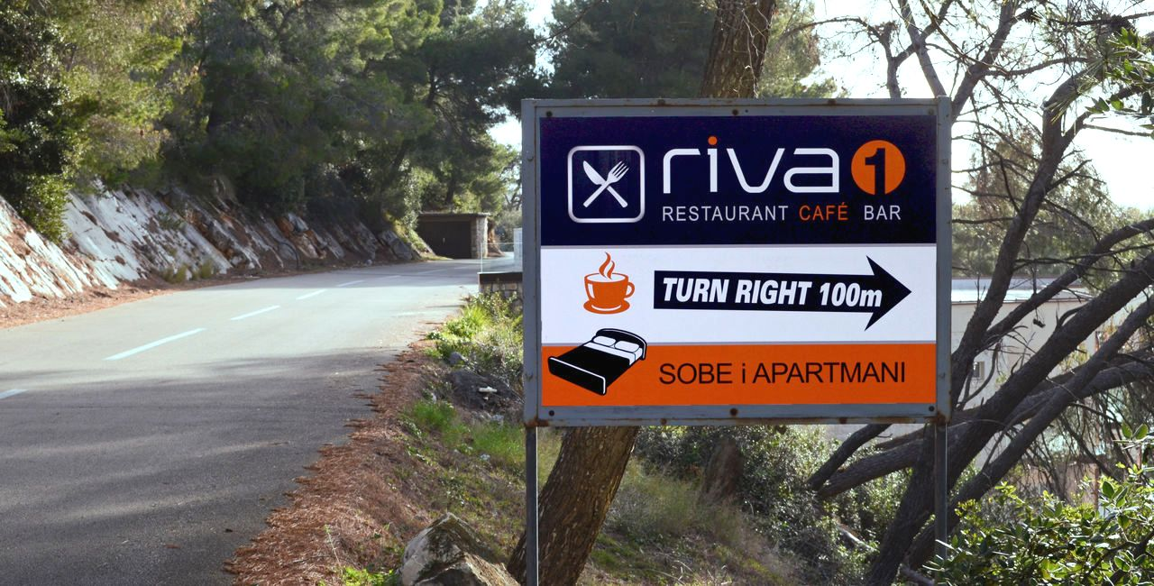 Road direction to restaurant Riva1